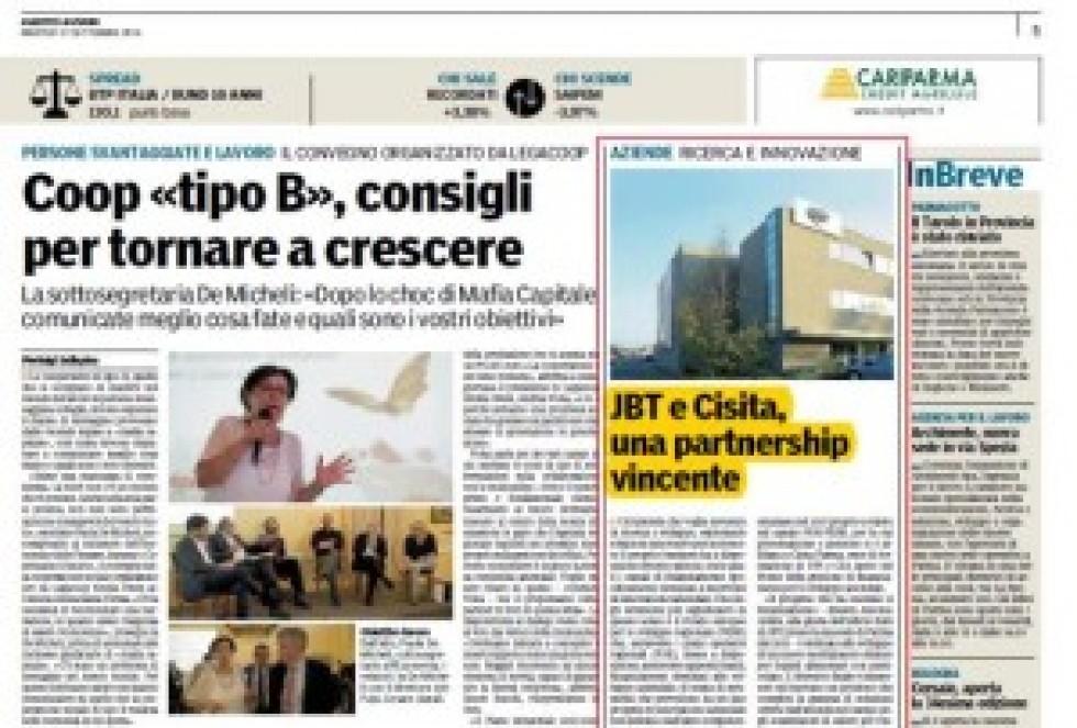 JBT e CISITA Parma: una partnership vincente