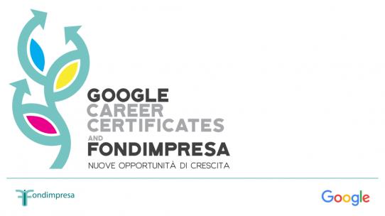 Fondimpresa promuove i Google Career Certificates