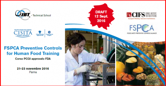FSPCA Preventive Controls for Human Food Training